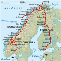 Norway Map, Norway Travel, Lofoten, Best European Road Trips, Places To Travel, Travel Destinations, Vacation Wishes, Lappland, Lillehammer