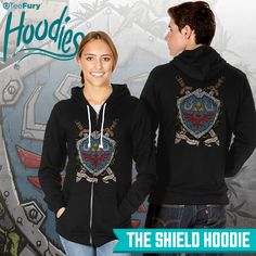 """The Shield"" hoodie by #ducfrench is available on #TeeFury!"