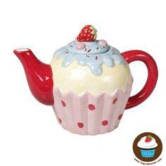 Teekanne im Cupcakelook