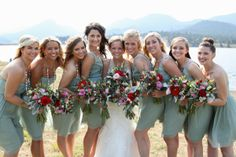 Whimsical Wedding in Estes Park, Colorado -  Mint Green Bridesmaid Dresses - See more on COUTUREcolorado - http://www.couturecolorado.com/wedding/2013/12/16/whimsical-wedding-in-estes-park/