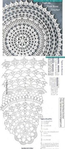Great Free of Charge Crochet rug chart Concepts 56 Trendy crochet doilies diagram charts rugs Free Crochet Doily Patterns, Crochet Doily Diagram, Crochet Chart, Thread Crochet, Crochet Stitches, Free Pattern, Crochet Tablecloth Pattern, Rug Patterns, Tatting Patterns
