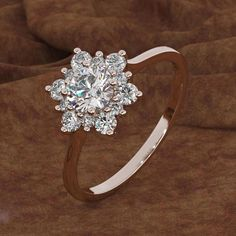 Wedding rings vintage - Luxury Female Snowflake Ring Fashion 925 Silver Yellow Rose Gold Color Crystal Zircon Stone Ring Vintage Wedding Rings For Women – Wedding rings vintage Wedding Rings Vintage, Wedding Rings For Women, Vintage Rings, Ring Set, Ring Verlobung, Star Ring, Snowflake Ring, Snowflakes, Wedding Jewellery Gifts