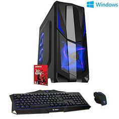 Perfect entry into PC Gaming CPU: AMD A-Series A8-7650K overclocked to 4.2GHz GPU: AMD R7 Series Integrated Graphics  ULTRA FAST 4.2GHz OC Quad Core AMD Desktop Gaming Office Home Family PC Computer (16GB RAM, 1TB Hard Drive, Radeon R7 Series Graphics, Gaming Keyboard and Mouse)