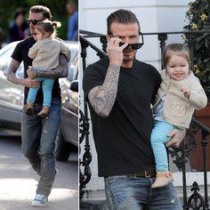 Harper Beckham Smiles Big in London With Dad David Beckham | More pics here
