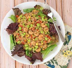 Quinoa, Edamame & Shrimp Salad with Balsamic Vinaigrette