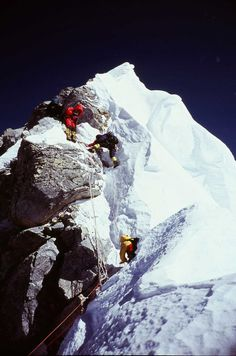 Everest [the Hillary Step] Himalayas Mountain Climbing, Rock Climbing, Nepal, Monte Everest, Climbing Everest, The Mountains Are Calling, Snow Skiing, Mountain Landscape, Top Of The World