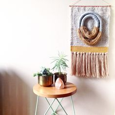 Weaving woven tapestry wall hanging by Maryanne Moodie