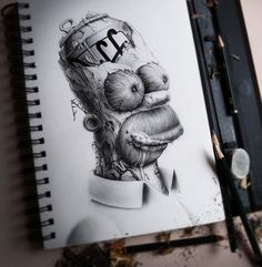 D'Oooh!!AMAZING Artwork. Sketch book Distroy by French artist PEZ. Enjoy served via Behance!
