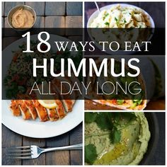 18 Ways To Eat Hummus All Day Long - we're convinced! Just make sure your pizza crust, wraps, and bread are gluten free! (That's what we'er here for!)