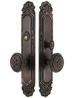 Antoinette Premium Mortise Entry Set with Louis XVI Round Knobs | House of Antique Hardware