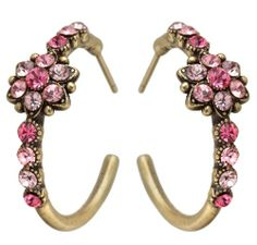 Victorian Style Michal Negrin Romantic Hoop Earrings with Central Flower made with Lovely Pink Swarovski Crystals Michal Negrin http://www.amazon.com/dp/B007XFBWNO/ref=cm_sw_r_pi_dp_HU.Ktb1VDVFJPTV7