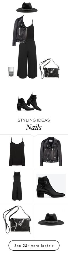 """Untitled #106"" by erum-h on Polyvore featuring Eddie Borgo, Yves Saint Laurent, Nails Inc., rag & bone, Topshop and Acne Studios"