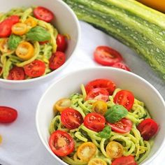 Zucchini Spaghetti with 5-Minute Avocado Sauce | In Sonnet's Kitchen
