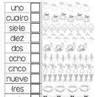 This worksheet can be two separate or front and back. It focuses on the Spanish numbers 1-10 and uses fall clipart to help students practice their ...