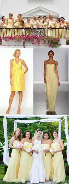 love the light yellow dresses on the bottom