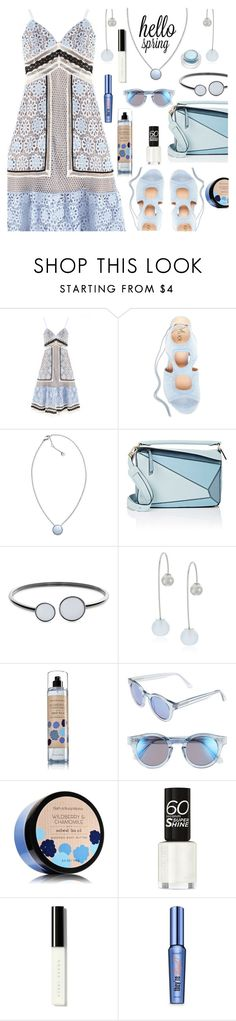 """""""Hello Spring"""" by deborah-calton ❤ liked on Polyvore featuring self-portrait, Skagen, Loewe, Sunday Somewhere, Bobbi Brown Cosmetics, Benefit and rms beauty"""