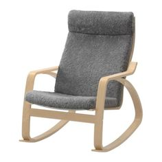 POÄNG Rocking chair - Lockarp gray, birch veneer - IKEA
