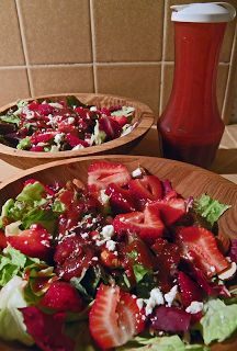Strawberry Salad with Strawberry Balsamic Dressing