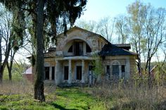 """abandoned homes in Russia   Lyakhovo Mansion"""" -- [located in Moscow, Russia. The Lyakhovo mansion ..."""