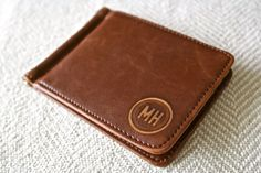 Hey, I found this really awesome Etsy listing at https://www.etsy.com/listing/246198310/personalized-leather-money-clip-custom