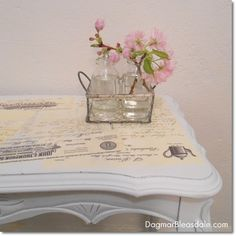 Mod Podge Table Tutorial - DIY Project With Vintage Letters