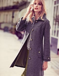 SHINECLOTH Double Breasted Wool Coat Long Winter Women Trench