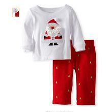 Crianças natal roupas estabelecidos roupa dos miúdos meninas meninos roupas define meninas roupas de inverno meninos de natal t-shirt + calças terno(China (Mainland))