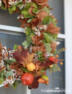 Gorgeous and simple to make fall wreath