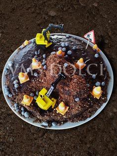 Chocolate Construction Cake