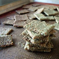 Pumpkin Seed Zucchini Crackers (Paleo, Grain-Free, Gluten-Free, Vegan, Soy-Free, Raw if dehydrated)