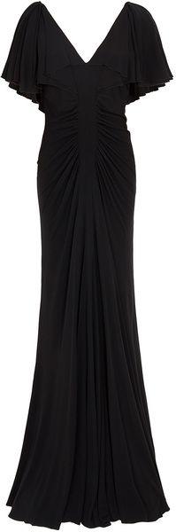 ELIE SAAB Jersey Dress Cap Sleeves Dress. I bet this I SO flattering