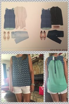 #Stitchfix 2- sadly, this is the only piece I kept from my second fix :(  but I couldn't pass up this cute little top! I normally don't love sleepless, but this is Texas, Its hot and the back of this top is adorable! Kept!  https://www.stitchfix.com/referral/4783537