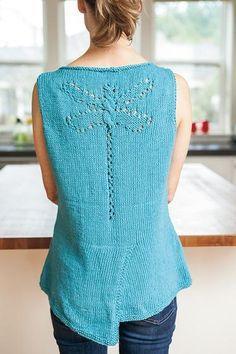 Ravelry: Dragonfly Tank Top pattern by Nadya Stallings Knitting Designs, Knitting Stitches, Free Knitting, Knitting Patterns, Crochet Patterns, Knit Picks, Knit Or Crochet, Top Pattern, Crochet Clothes