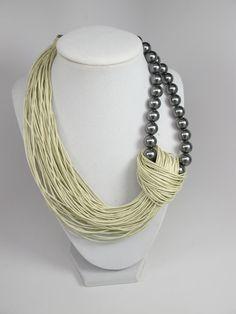 Sale Was 44 Linen Necklace natural Linen necklace Organic
