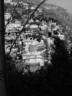 Black and white Positano