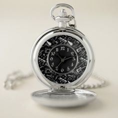 Shop Black & White Instruments Pattern Pocket Watch created by ManCavePortal. Personalized Pocket Watch, Pocket Watches, Make A Gift, White Patterns, Cool Watches, Portal, Instruments, Quartz, Man Shop
