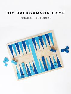 Make a Simple Backgammon Game for Summer Nights (Handmade Charlotte) Diy Craft Projects, Easy Diy Crafts, Craft Tutorials, Projects For Kids, Diy For Kids, Project Ideas, Craft Ideas, Backgammon Game, Diy Inspiration