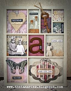 Gorgeous Collections Printers Tray, decorated with Collections elements ~ love it!