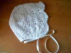 $21 crocheted baby bonnet