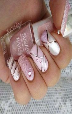 Image uploaded by ria. Find images and videos about nails, nail art and nail polish on We Heart It - the app to get lost in what you love. Fancy Nails, Pink Nails, Cute Nails, Pretty Nails, Silver Nails, Girls Nails, Fabulous Nails, Gorgeous Nails, Sugar Nails