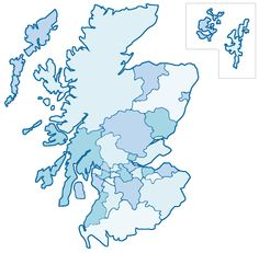 scottish councils map - Google Search