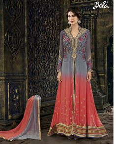 Grey   riotous Embroidered Georgette Salwar Suits for women (Semi Stitched)       Fabric:   Georgette       Work:   Embroidered       Type:   Salwar Suits for   women (Semi Stitched)       Color:   Grey                 Fabric Top   Georgette