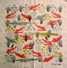 vintage hanky, design by tammis keefe