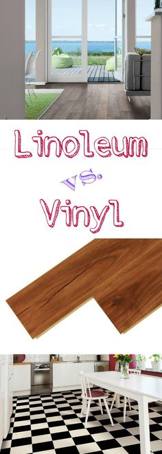 Linoleum vs. Vinyl: Ever wonder what the difference is between vinyl and linoleum? A breakdown with the pros and cons of each type by cost, look, eco-friendliness and more!