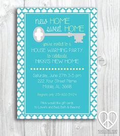 House Warming Party 5x7 Printable Invitation by PeaceLovePrint #etsy