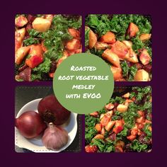 Roasted root vegetable medley with EVOO. This was great with (BBQ'd) sausages, but would be good with lots of other things. It's got kale in it too, so there's your carbs and greens all in one dish. I love one dish cooking. Better for washing up. This has potatoes, sweet potatoes, beetroot, red onion, kale, garlic, and a fair bit of extra virgin olive oil. I never used to cook much beetroot because of the potential red staining. Of hands and clothes. Scrubbing them makes this less of an…