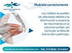 Presta atención al #movimiento de columna y cuadríceps; la ausencia de este, puede afectar tus rodillas. #MuéveteCorrectamente con #GrupoFI.