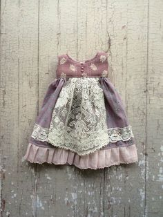 Apron dress for Blythe - Lavender