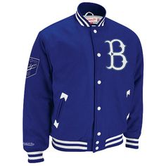 Brooklyn Dodgers Cooperstown Wool Jacket by Mitchell & Ness
