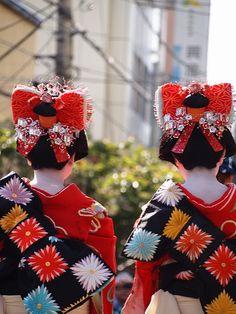 Edo Yoshiwara Oiran Parade kamuro